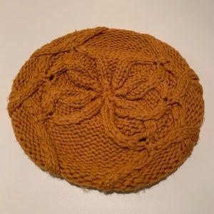 Accessories - dark orange knit beret hat